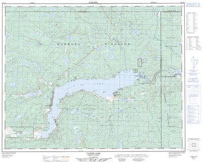 092p15 Canim Lake Topographic Map