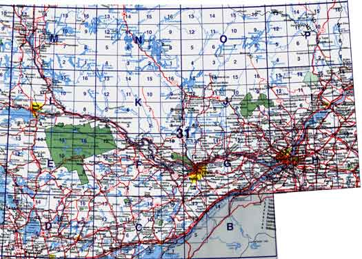 Ontario Topographic Map.Canada Topo Maps Nts Block 031 Map Town