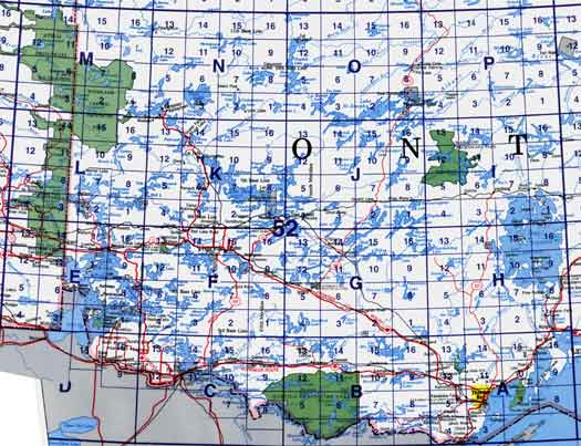 Canada Topo Maps NTS Block 052 - Map Town on