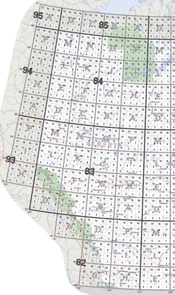 Alberta Topo Maps; NTS Topographical Maps for Alberta; Buy Alberta ...