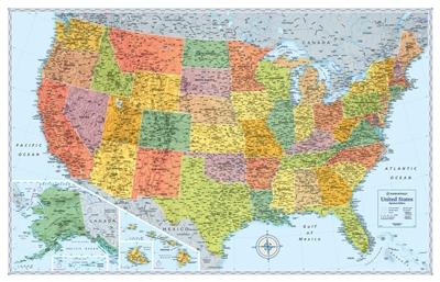 United States Wall Map Signature Edition Rand Mcnally