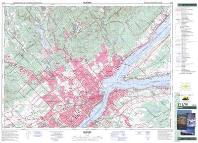 021L14 - QUEBEC - Topographic Map