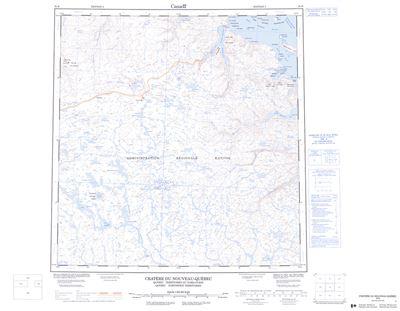 035H - CRATERE DU NOUVEAU-QUEBEC - Topographic Map Quebec Topographic Maps on