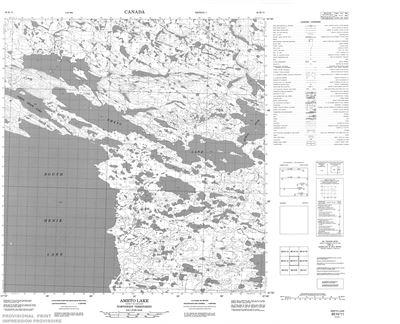 065H11 - AMETO LAKE - Topographic Map