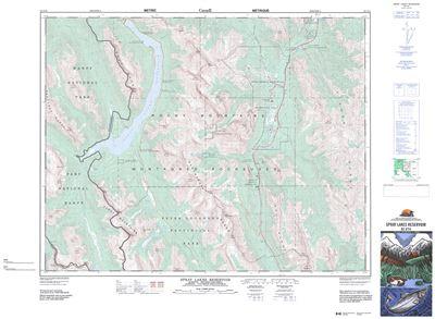 082j14 Spray Lakes Reservoir Topographic Map