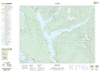 092g12 Sechelt Inlet Topographic Map