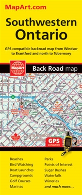 SW Ontario travel & road map. GPS Compatible Highly detailed map of the  complete regional road network for South Western Ontario, coverage from ...