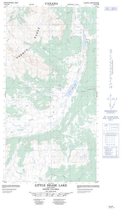 104j09w Little Dease Lake Topographic Map