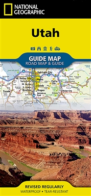 Utah National Geographic State Guide Map. National Geographic Guide ...